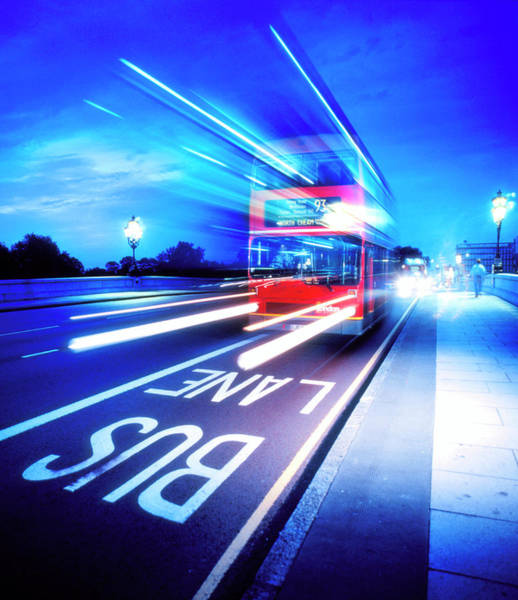 Motoring Photograph - Bus by Simon Lewis/science Photo Library