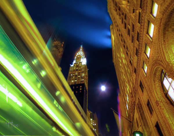 Photograph - Bus Stop - 42nd St by Glenn Feron