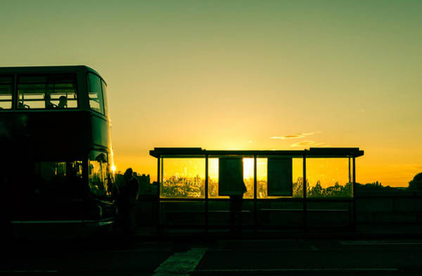 Autobus Photograph - Bus Stop At Sunset by Dutourdumonde Photography
