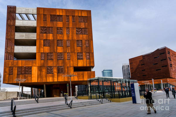 Photograph - Busarchitektur Buildings Tc And D1 Wu Campus Vienna  by Menega Sabidussi