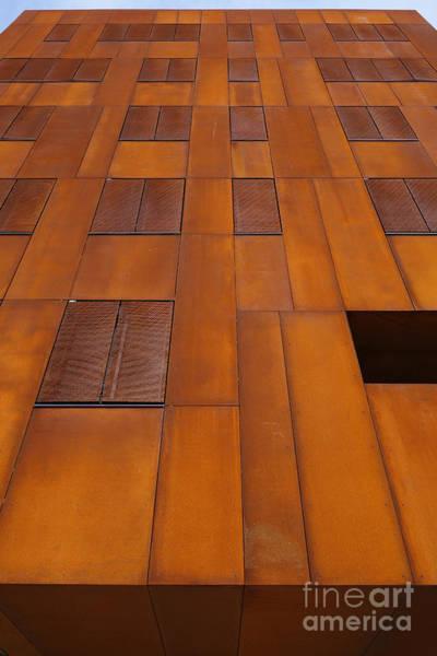 Photograph - Busarchitektur Rust Steel Facade Wu Campus Vienna by Menega Sabidussi