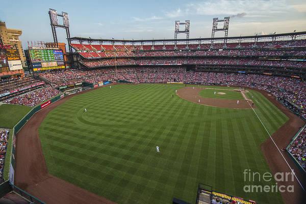 Photograph - Busch Stadium Cardinals 1 by David Haskett II