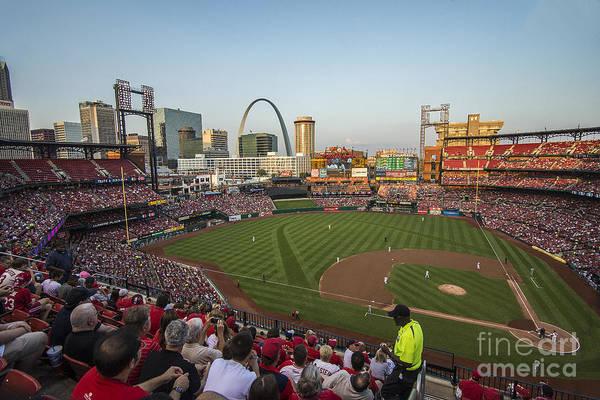 Photograph - Busch Stadium Cardinals 2 by David Haskett II