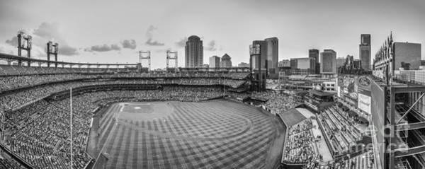 Photograph - Busch Stadium Cardinals Pano by David Haskett II