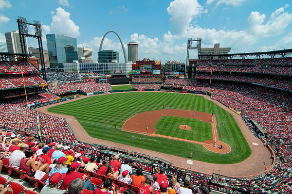 Photograph - Busch Stadium by Mark Whitt