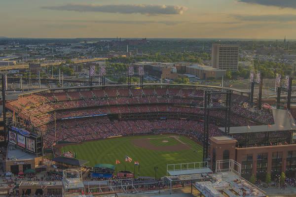 Photograph - Busch Stadium St. Louis Cardinals Atop by David Haskett II