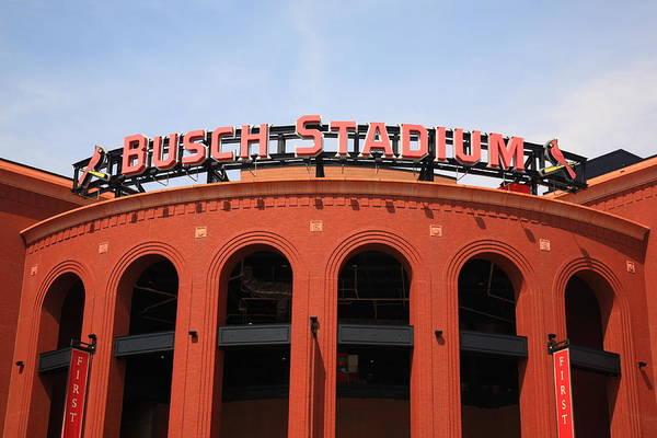 Photograph - Busch Stadium - St. Louis Cardinals by Frank Romeo