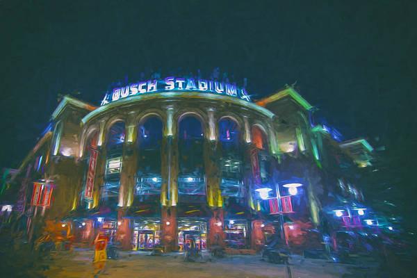 Photograph - Busch Stadium St. Louis Cardinals Paint by David Haskett II
