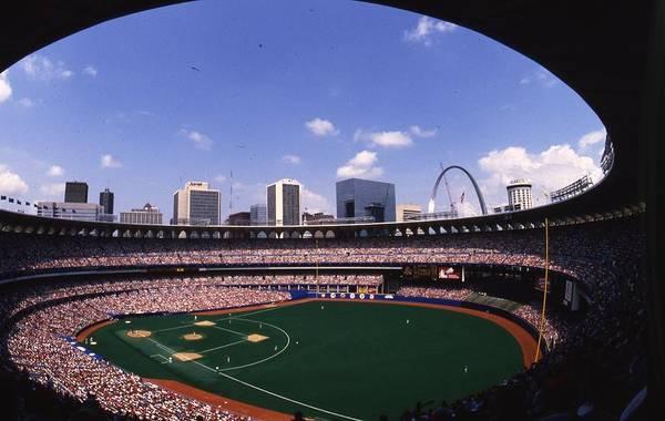Busch Photograph - Busch Stadium St. Louis Mo by Retro Images Archive