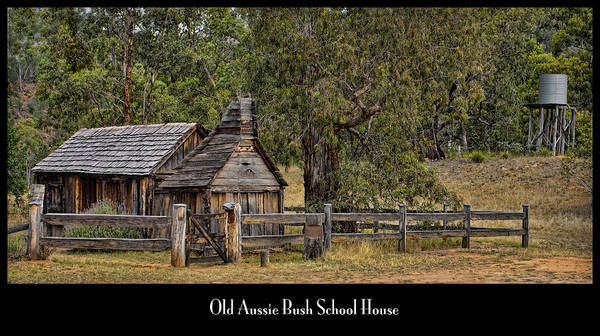 Photograph - Bush School House by Kim Andelkovic