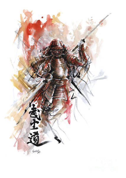 Wall Art - Painting - Bushido - Samurai Warrior. by Mariusz Szmerdt