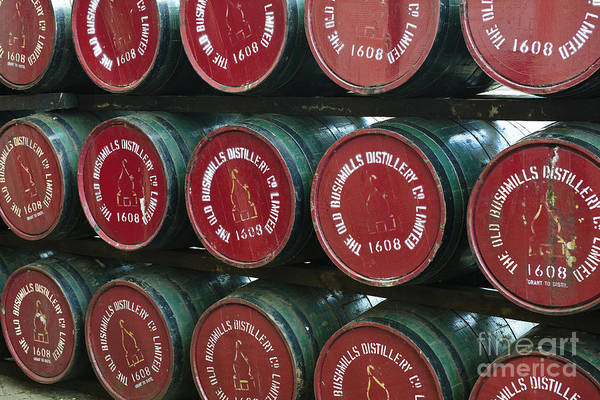 Irish Whiskey Photograph - Bushmills Distillery Barrels by John Shaw