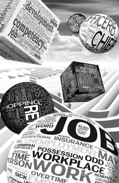 Insurance Digital Art - Business Related Concepts Poster by Stefano Senise