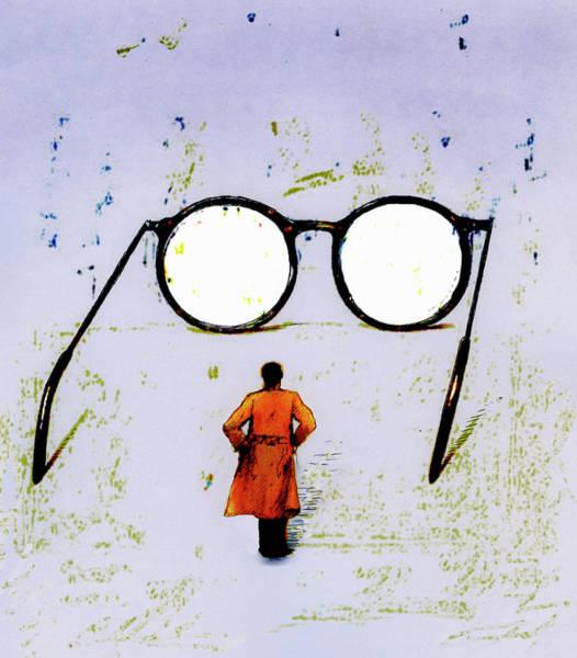 Clear Coat Wall Art - Photograph - Businessman Looking At Blank View by Ikon Ikon Images