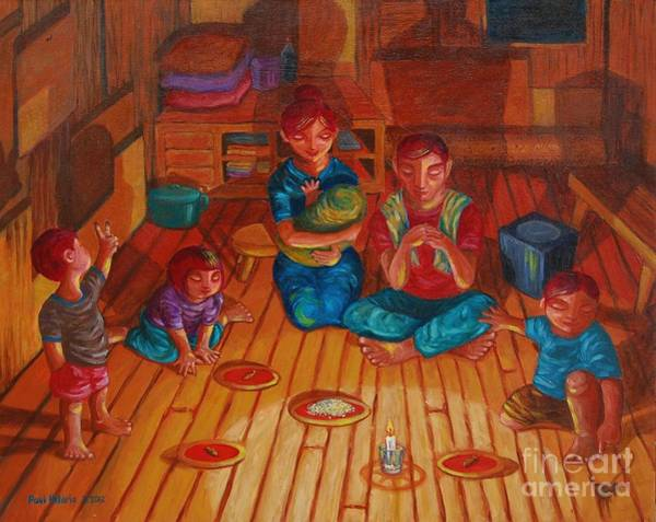 Philippines Wall Art - Painting - Busog  by Paul Hilario