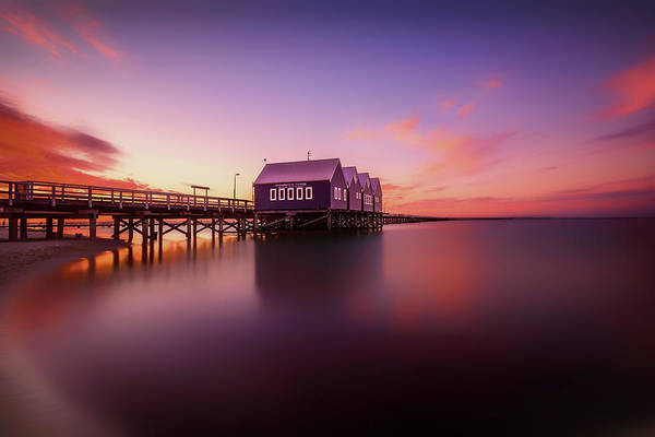 Jetty Photograph - Busselton Sunset by Despird Zhang