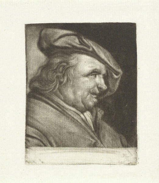 Wall Art - Painting - Bust Of A Man With A Painters Cap On His Head by Michiel Van Musscher
