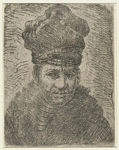 Mens Clothing Wall Art - Drawing - Bust Of A Man With A Polish Hat. Anonymous by Jan Gillisz. Van Vliet And Rembrandt Harmensz. Van Rijn