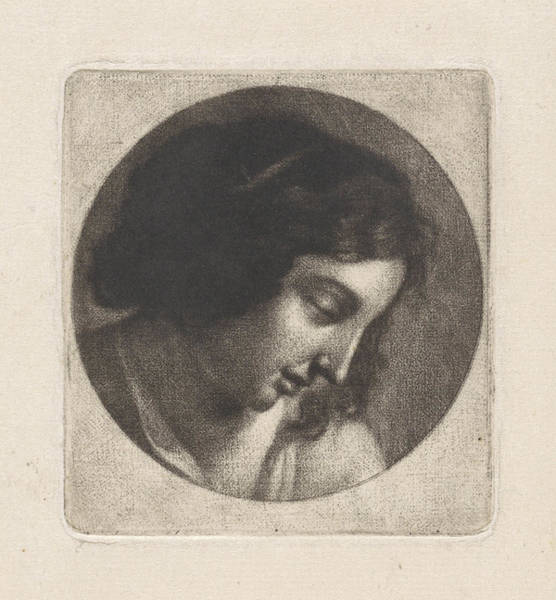 Wall Art - Drawing - Bust Of A Young Woman, Abraham Bloteling by Abraham Bloteling