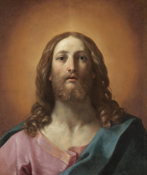 Sacred Heart Wall Art - Painting - Bust Of Christ by Guido Reni