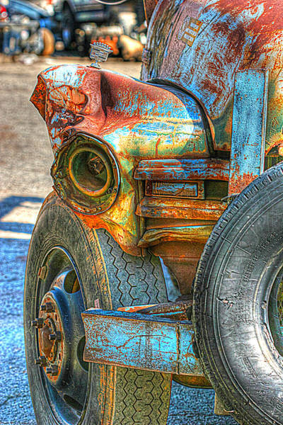 Wrecking Yard Photograph - Busted by Sherry Thorup