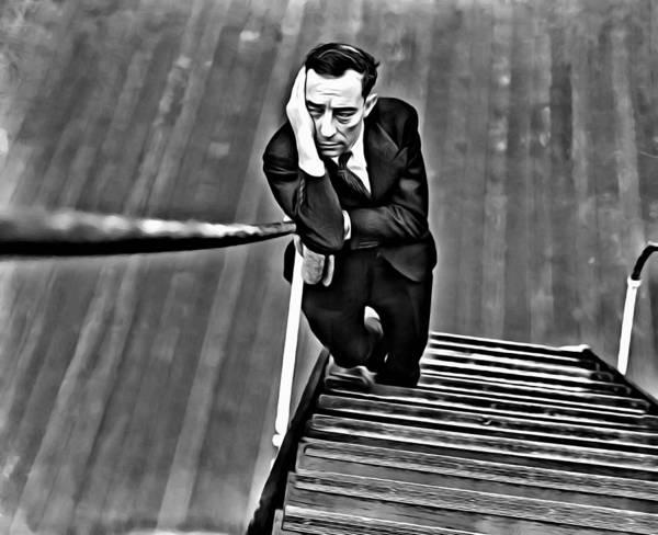 Painting - Buster Keaton by Florian Rodarte