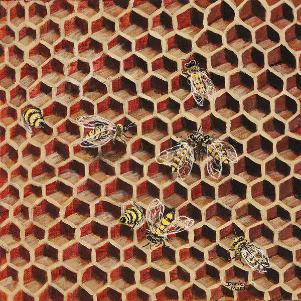 Painting - Busy Bee 3 by Darice Machel McGuire