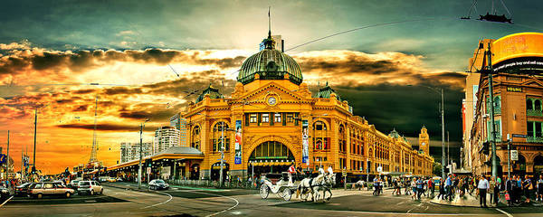 Ornate Photograph - Busy Flinders St Station by Az Jackson