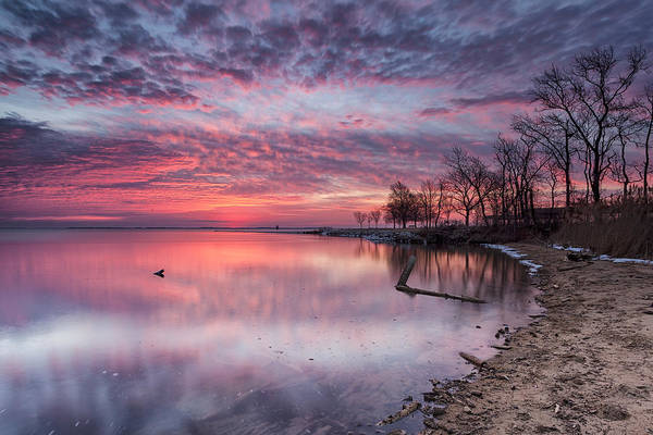 Sandy Point State Park Photograph - But A Brief Moment by Edward Kreis
