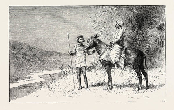 Wall Art - Drawing - But A Slave-hunter Discovered Her Village, Engraving 1884 by English School