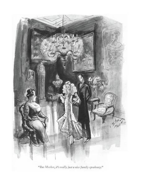 Distribution Drawing - But Mother, It's Really Just A Nice Family by Barbara Shermund