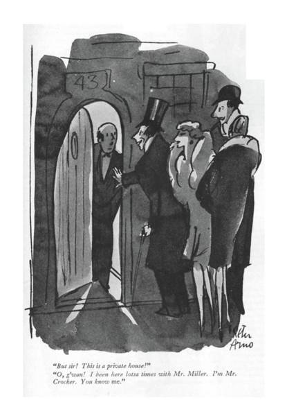 Drawing - But Sir! This Is A Private House! O by Peter Arno