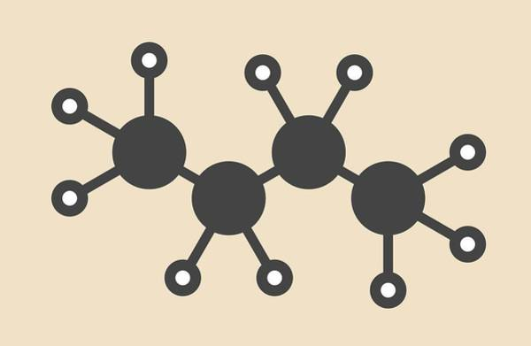 Liquify Photograph - Butane Hydrocarbon Molecule by Molekuul