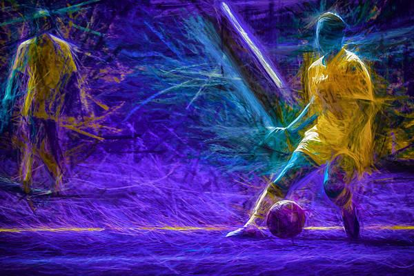Photograph - Butler University Soccer Athlete Caroline Kowal Digitally Painted 2 by David Haskett II