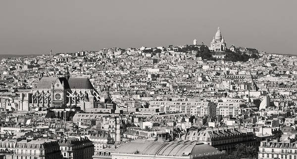 Photograph - Butte Montmartre Paris In Black And White by Pierre Leclerc Photography