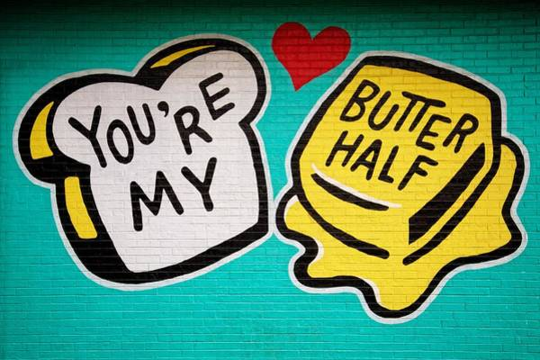Wall Mural Photograph - Butter Half by Dave Files