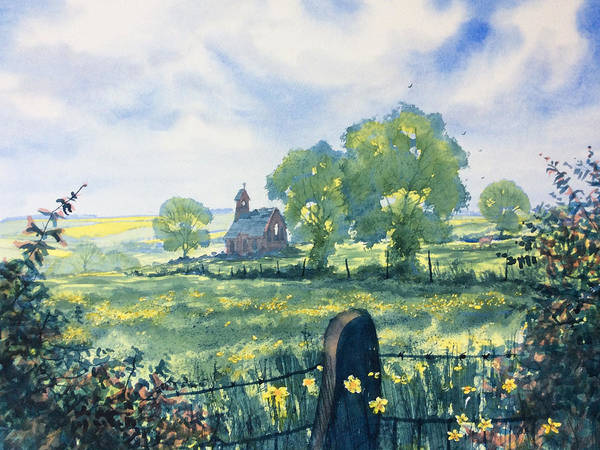 Painting - Buttercups And Bibles by Glenn Marshall