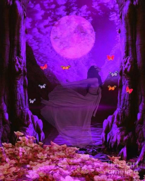 Butterflie Fantasy Scene Art Print