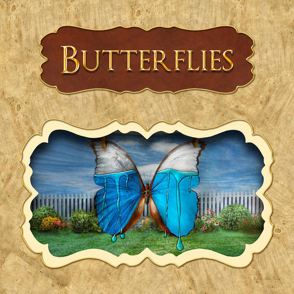 Photograph - Butterflies Button by Mike Savad