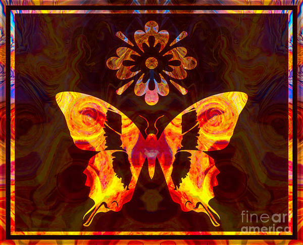 Painting - Butterfly By Design Abstract Symbols Artwork by Omaste Witkowski