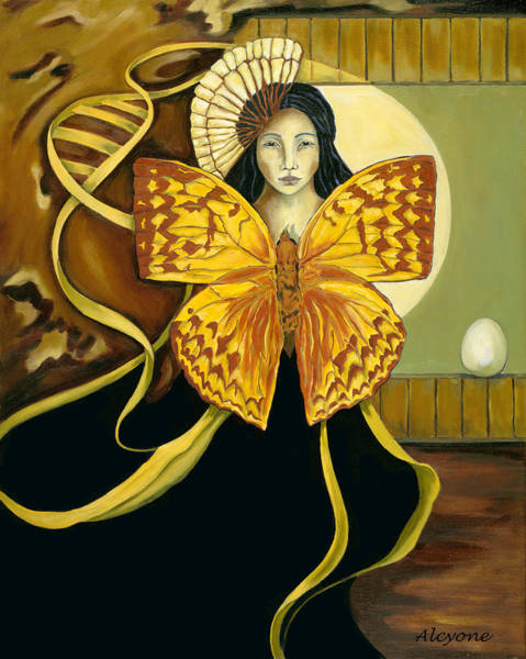 Painting - Butterfly Dreaming by Artimis Alcyone