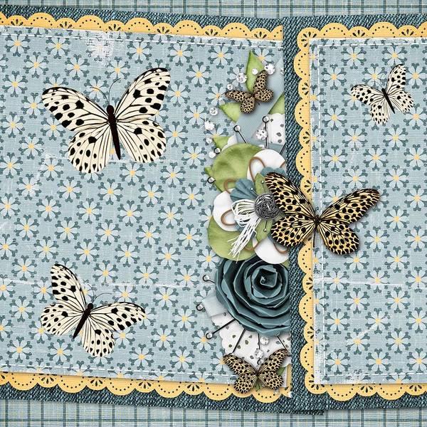 Blue Bug Digital Art - Butterfly Dreamland by Debra  Miller
