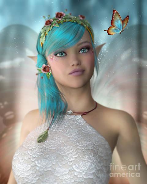 Digital Art - Butterfly Fairy by Elle Arden Walby