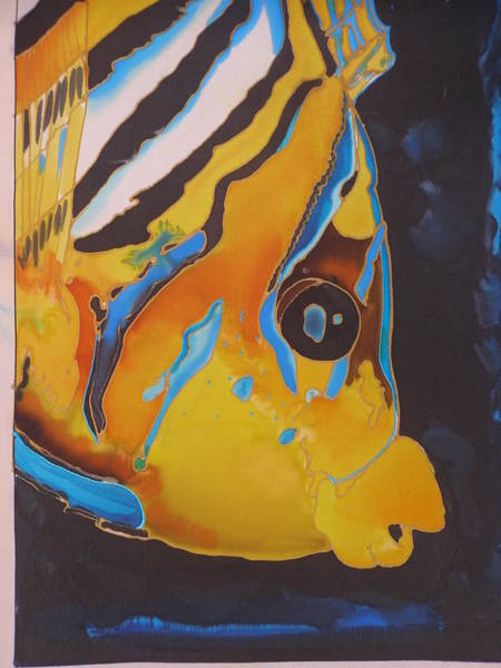 King Size Painting - Butterfly Fish Head by Nandy King