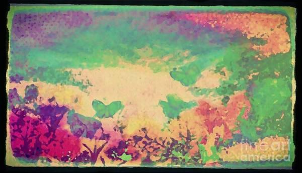 Butterfly On Flower Digital Art - Butterfly Gardens by Cindy McClung