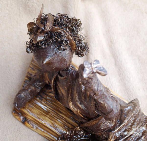 Sculpture - Butterfly Girl - 2nd Photo by Vivian Martin