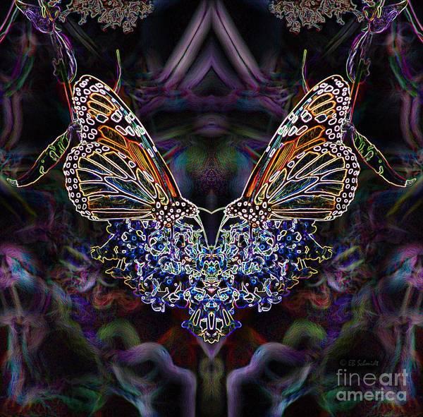 Digital Art - Butterfly Reflections 01 - Monarch by E B Schmidt