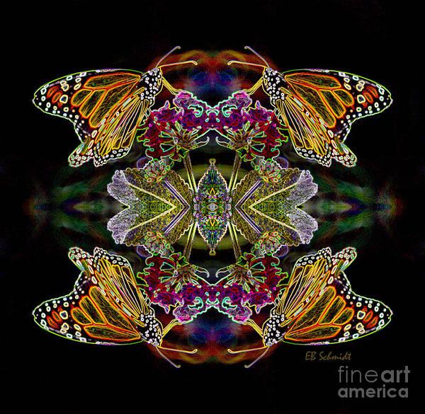 Butterfly Reflections 02 - Monarch Art Print