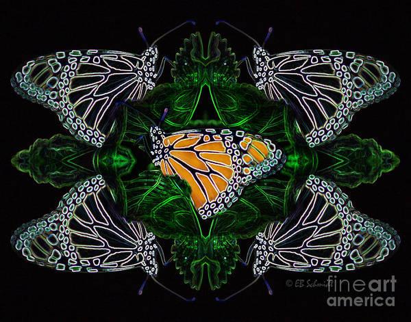 Butterfly Reflections 07 - Monarch Art Print