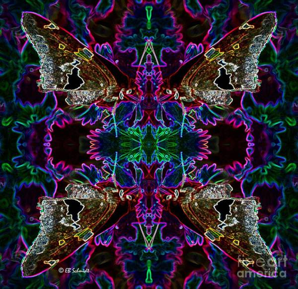 Digital Art - Butterfly Reflections 09 - Silver Spotted Skipper Reflections by E B Schmidt